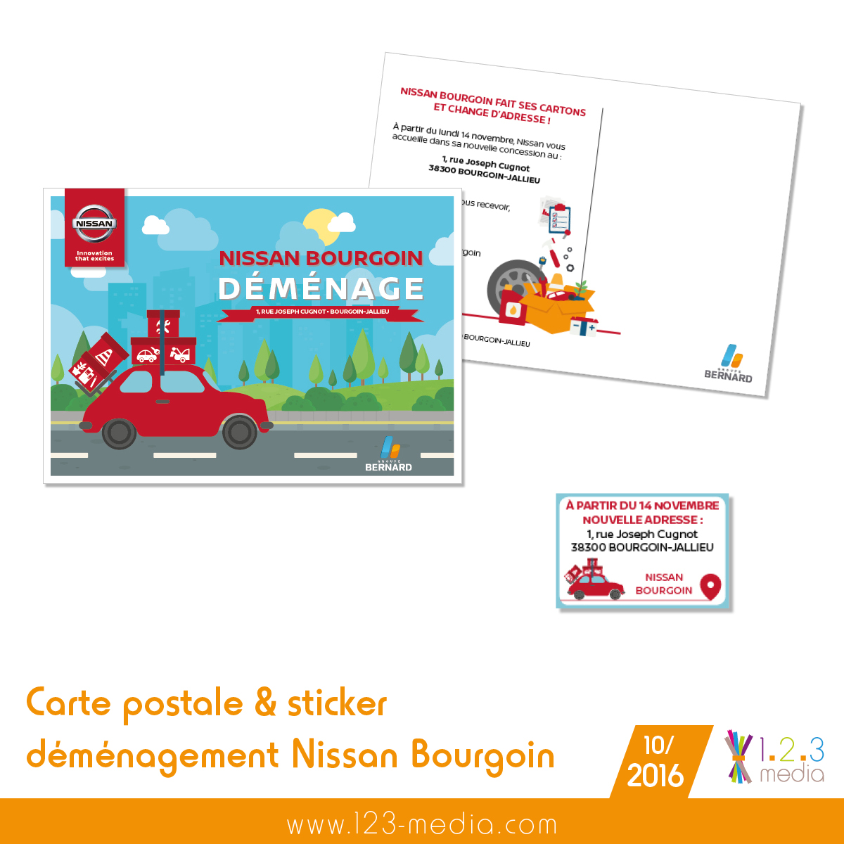 carte postale demenagement nissan bourgoin